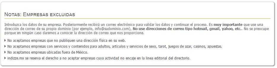Indizze - Directorio Empresas - ClandBus - Mexio