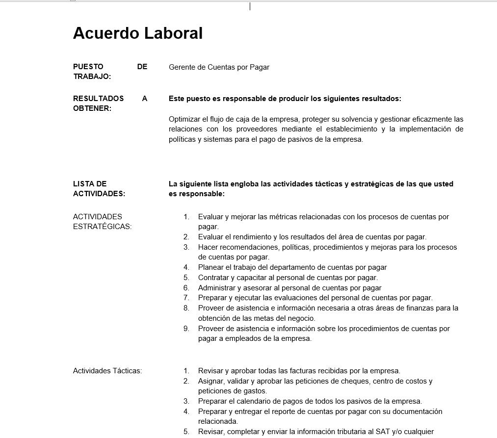 Descripción de Puestos de Trabajo - ClandBus - Odoo